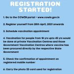 Whatsapp Status related to Covid-19 Vaccination Registration Process
